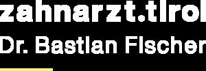 zahnarzt.tirol Dr. Bastian Fischer Logo white